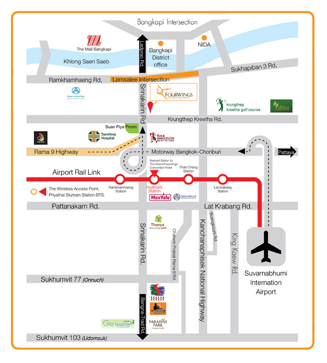 hotel-map   Bangkok Beauty Academy No.1 Microblading in Thailand on resort map, cafeteria map, in a map, guam map, airstrip map, statue map, city map,